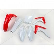 KIT PLASTIQUE UFO COULEUR ORIGINE ROUGE/BLANC HONDA CRF250R/450R