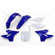 KIT PLASTIQUE UFO COULEUR ORIGINE BLEU/BLANC YAMAHA YZ125/250