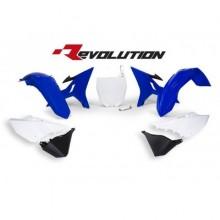 KIT PLASTIQUES DE RECHANGE RACETECH REVOLUTION BLEU/BLANC YAMAHA YZ125/250