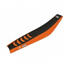 HOUSSE DE SELLE BLACKBIRD DOUBLE GRIP 3 NOIR/ORANGE KTM SX85
