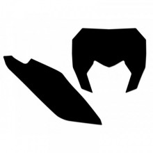 FONDS DE PLAQUE BLACKBIRD NOIR SHERCO SE/SE-F
