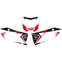 FONDS DE PLAQUE BLACKBIRD GRAPHIC BLANC SUZUKI RM-Z450