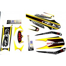 KIT  ADHESIF / STICKER  TXT TRIAL JAUNE  2000 2005 GAS GAS
