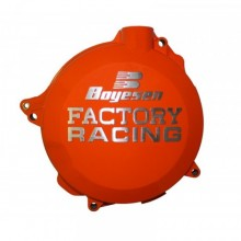 COUVERCLE DE CARTER D'EMBRAYAGE BOYESEN FACTORY RACING ALU ORANGE KTM EXC125/200