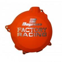 COUVERCLE DE CARTER D'EMBRAYAGE BOYESEN FACTORY RACING ALU ORANGE KTM SX-F250/350 HUSQVARNA FC250/350
