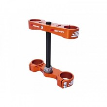 TÉ DE FOURCHE SCAR OFFSET 16MM ORANGE KTM SX85/HUSQVARNA TC85