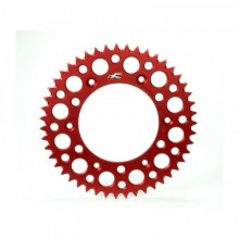 COURONNE RENTHAL ULTRALIGHT™ 48 DENTS ALU ANTI-BOUE PAS 520 TYPE 154U ANODISÉ ROUGE HONDA