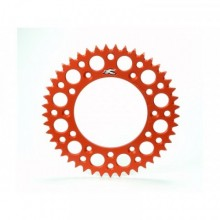 COURONNE RENTHAL ULTRALIGHT™ 49 DENTS ALU ANTI-BOUE PAS 520 TYPE 224U ANODISÉ ORANGE KTM