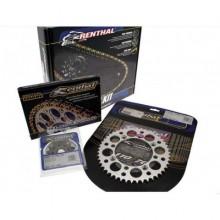 KIT CHAÎNE RENTHAL 520 TYPE R1 13/50 (COURONNE ULTRALIGHT™ ANTI-BOUE) KTM SX125