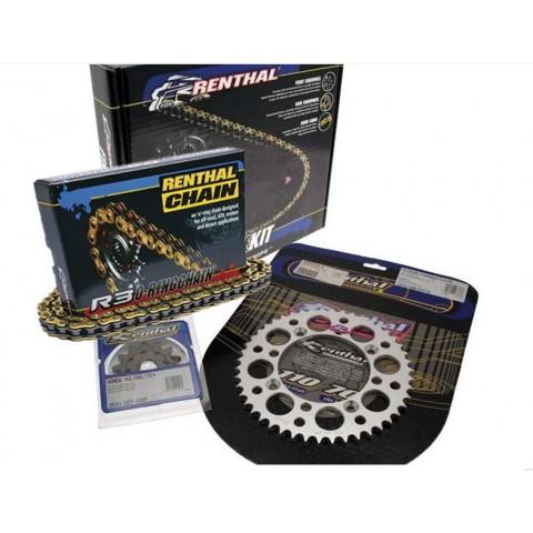 KIT CHAÎNE RENTHAL 520 TYPE R3-2 15/48 (COURONNE ULTRALIGHT™ ANTI-BOUE) KTM EXC250/300/400 RACING