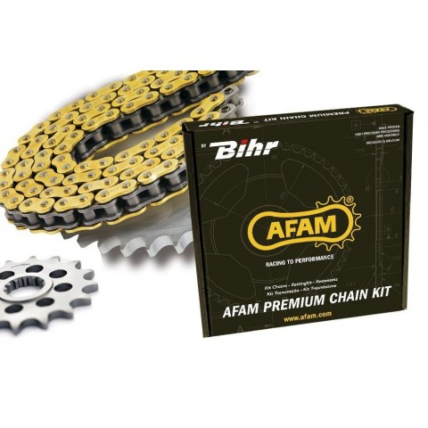 KIT CHAINE AFAM 520 TYPE XRR2 (COURONNE ULTRA-LIGHT ANTI-BOUE) HUSABERG FE350