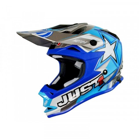 CASQUE JUST1 J32 MOTO X BLUE TAILLE XS