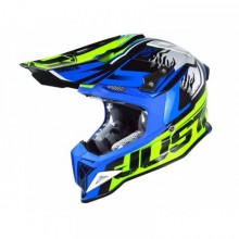 CASQUE JUST1 J12 DOMINATOR BLUE/NEON YELLOW TAILLE S