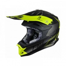 CASQUE JUST1 J32 PRO KICK YELLOW/BLACK/TITANIUM MATTE TAILLE XL