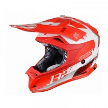 CASQUE JUST1 J32 PRO KICK WHITE/RED MATTE TAILLE XS
