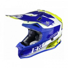 CASQUE JUST1 J32 PRO KICK WHITE/BLUE/YELLOW GLOSS TAILLE YL