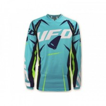 MAILLOT UFO ELEMENT TURQUOISE/JAUNE TAILLE L