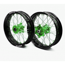 "PAIRE DE ROUES SUPERMOTARD PRORIDE FACTORY KAWASAKI 17"" SUPERMOTARD"
