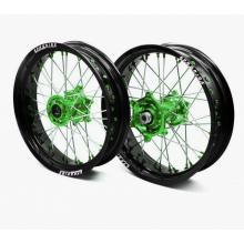 Paire de roues supermotard ProRide Factory Noir Mat pour Kawasaki