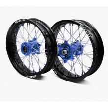"PAIRE DE ROUES SUPERMOTARD PRORIDE FACTORY + PNEUS TM 17"" SUPERMOTARD"