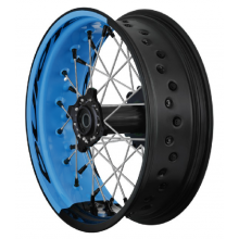 PAIRE DE ROUES TUBELESS SUPERMOTARD ALPINA BI-COLOR YAMAHA YZ/YZF/WR/WRF