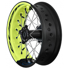 PAIRE DE ROUES TUBELESS SUPERMOTARD ALPINA BI-COLOR SUZUKI RMZ