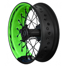 PAIRE DE ROUES TUBELESS SUPERMOTARD ALPINA BI-COLOR KAWASAKI KX - KXF