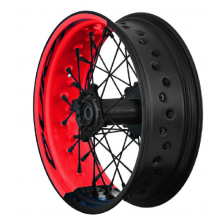 PAIRE DE ROUES TUBELESS SUPERMOTARD ALPINA BI-COLOR APRILIA