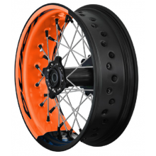 PAIRE DE ROUES TUBELESS SUPERMOTARD ALPINA BI-COLOR KTM