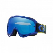 MASQUE OAKLEY O FRAME MX CIRCUIT BLUE/YELLOW ECRAN BLACK ICE IRIDIUM + TRANSPARENT