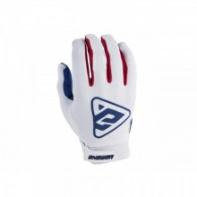 GANTS ANSWER AR3 BLANC/ROUGE TAILLE XL