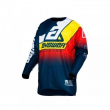 MAILLOT ANSWER ELITE KORZA MIDNIGHT/WHITE/PRO YELLOW/RED TAILLE S