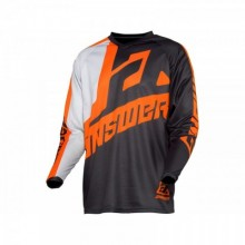 MAILLOT ANSWER SYNCRON VOYD JUNIOR CHARCOAL/GRAY/ORANGE TAILLE YM