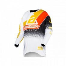 MAILLOT ANSWER ELITE KORZA BLACK/WHITE/BUS/ORANGE TAILLE XS