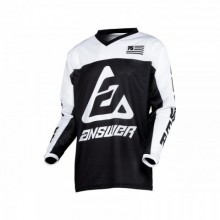 MAILLOT ANSWER ARKON OPS BLACK/WHITE TAILLE M