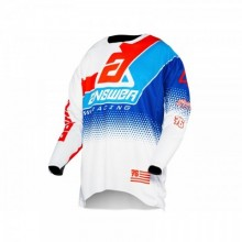 MAILLOT ANSWER ELITE KORZA WHITE/RED/HYPER BLUE/REFLEX TAILLE XXL