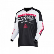 MAILLOT ANSWER SYNCRON PRO GLOW WHITE/BLACK/PINK TAILLE XS