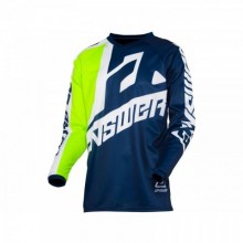 MAILLOT ANSWER SYNCRON VOYD JUNIOR MIDNIGHT/HYPER ACID/WHITE TAILLE YS