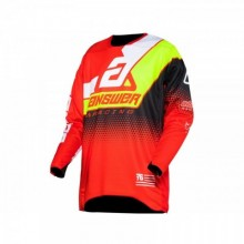 MAILLOT ANSWER ELITE KORZA RED/WHITE/HYPER ACID/BLACK TAILLE L
