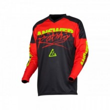 MAILLOT ANSWER SYNCRON PRO GLOW RED/BLACK/HYPER ACID TAILLE S