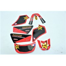 KIT DECO ROCKSTAR ROUGE YAMAHA PW 50