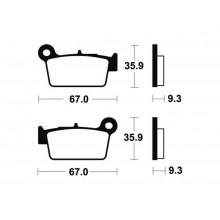PLAQUETTES FREIN ARRIERE EC 10-15 / 450 ECF 13-15 GAS GAS