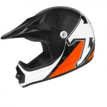 CASQUE CROSS ENFANT NOIR / ORANGE