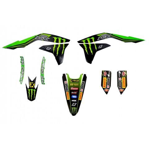 Kit déco 450 KXF 16-17 MONSTER ENERGY KAWASAKI MX2 RACING TEAM