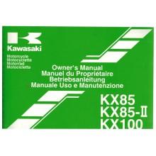 REVUE TECHNIQUE/MANUEL UTILISATION 85 100 KX 2003 KAWASAKI
