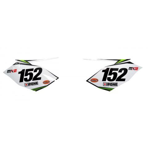 Kit déco PLAQUES NUMEROS 450 KXF 16-17 MONSTER ENERGY MX2