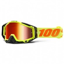 MASQUE RACECRAFT ATTACK YELLOW-MIRROR RED LENS