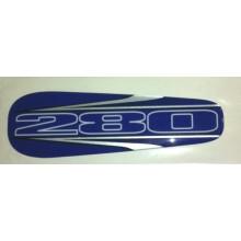 ADHESIF /  STICKER  DE SELLE BLEU POUR TRIAL GAS GAS 280 EDITION 2002