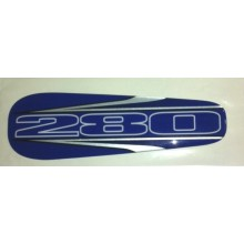 ADHESIF / STICKER DE SELLE BLEU POUR TRIAL GAS GAS 280 EDITION 2002