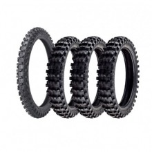 LOT 3 PNEUS ARRIERES + 1 AVANT PIRELLI SCORPION MX MIDSOFT MUD